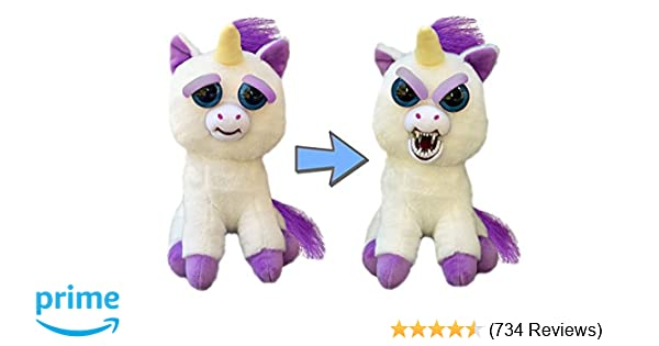 ab429de4b196 Amazon.com: Feisty Pets Glenda Glitterpoop the Unicorn that Turns Feisty  with a Squeeze: Toys & Games