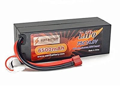 14.8V 6500mAh 4S Cell 75C-150C HardCase LiPo Battery Pack w/ Deans Ultra Plug Style Connector