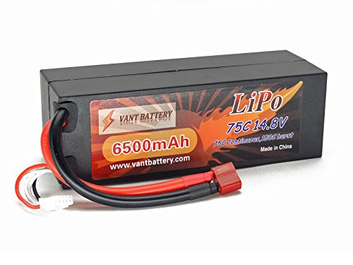 - 41OrovGADYL - 14.8V 6500mAh 4S Cell 75C-150C HardCase LiPo Battery Pack w/ Deans Ultra Plug Style Connector