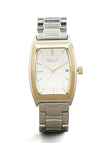 Kenneth Cole New York Men's Silvertone And Goldtone Barrel Link Watch