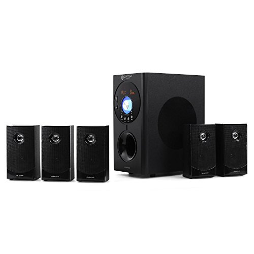 auna Areal Active 620 • 5.1 Surround Sound System • Home Cinema System • Bass Reflex • 5 Satellite Speakers • Active 6.5'' subwoofer • Bluetooth • USB Port • SD • AUX • Black by auna (Image #1)