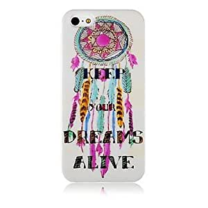 GJYColorful Dream Catcher Pattern Silicone Soft Case for iPhone5/5s