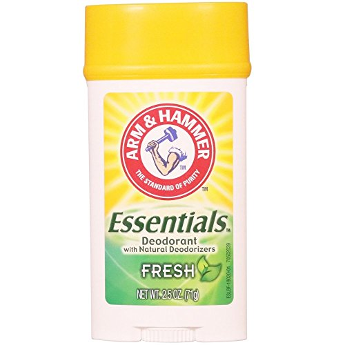 - ARM & HAMMER Essentials Natural Deodorant, Fresh 2.5 oz (Pack of 6)