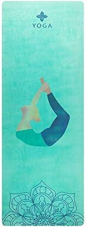 Yoga mat スエード天然ゴムヨガマット太いノンスリップスーパー吸汗太い無臭ヨガマット workout