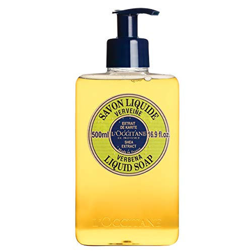 L'Occitane Shea Butter Liquid Hand Soap Enriched with Organic Verbena, 16.9 fl. oz.