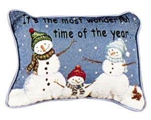 Set of 4 Snowman Trio Christmas Rectangular Decorative Tapestry Throw Pillows 12