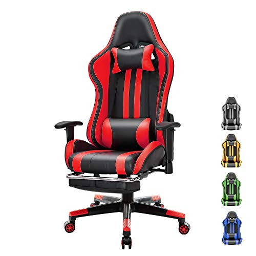 Soontrans Racer Style Computer Chair Reclining Office Chair Pu Leather Gaming Chair Swivel Desk Chair with Backrest and…