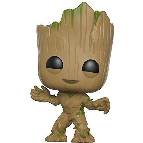 Groot: Funko POP! Marvel x Guardians of the Galaxy 2 Vinyl Figure + 1 FREE Official Marvel Trading Card Bundle (13230)