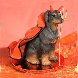 - Doberman Pinscher Little Devil Dog Figurine - Uncropped Ears - R