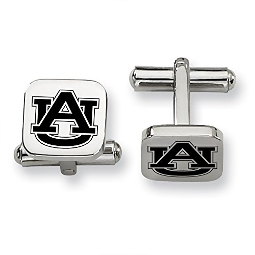 ess Steel Square Cufflinks (Auburn Tigers Womens Stainless Steel)