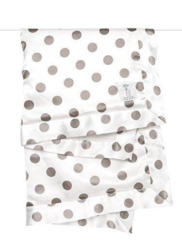 Little Giraffe Cream Dot Luxe Blanket - Flax