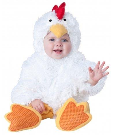 Costume da Galletto per neonato bebè travestimento bambina gallina pulcino  carnevale halloween cosplay tuta bianca pelliccia 5a8104b9223e