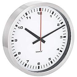 Blomus Wall Clock, Stainless Steel Frame, White Face, 30 centimeters