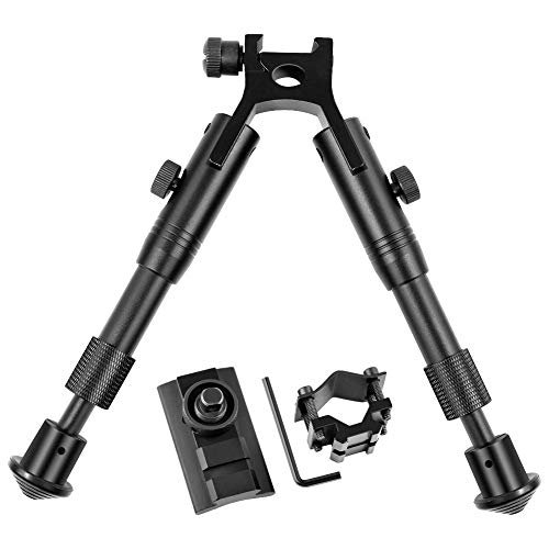 Twod Tactical Rifle Bipod Adjustable 6.3- 6.9 inch with Swivel Stud Mount
