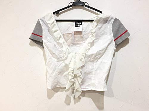 D&G カーディガン レディース 白×グレー×レッド 【中古】