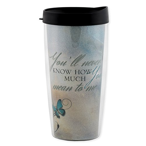 You'll Never Know How Much You Mean To Me 16 Oz Tumbler Mug with Lid (Marry Review Christmas For Me)