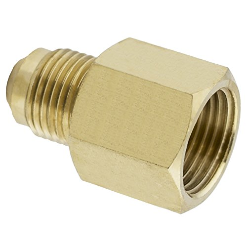 LASCO 17-5847 1/2-Inch Female Flare by 3/8-Inch Male Flare Brass Adapter