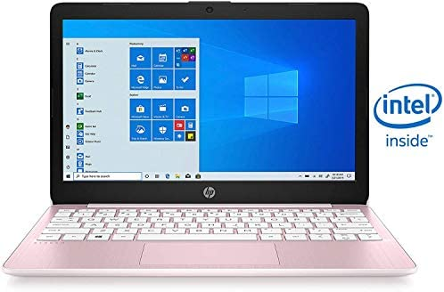 2020 HP Stream 11.6 inch Laptop Computer Intel Celeron N4020 Upto 2.8 GHz, 4GB RAM, 32GB eMMC Storage, Windows 10 Home, 13Hr Battery Life, Office 365 1Year, (Rose Pink)