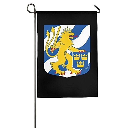 UDSNIS Sweden Flag Coat Of Arms Garden Flag 12 X 18 Inch Siz