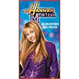 Hannah Montana Deluxe Valentine's Day Cards 34ct with 35 Stickers