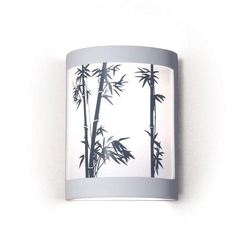 Silhouette Bamboo Stalks Design Ceramic Wall Sconce