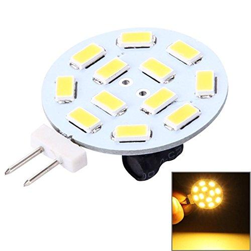 Your only family Durable Luz Decorativa Redonda de Buena Apariencia G4 3W 250LM 12 LED SMD 5730 para automóvil/decoración...