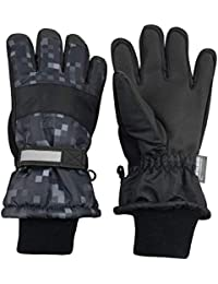 Kids Cold Weather Waterproof Camo Print Thinsulate Ski Gloves