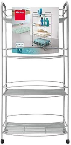 Metaltex Mueble baño 4 Pisos, Gris Metalizado: Amazon.es: Hogar
