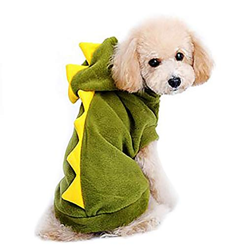 Petea Pet Clothes Dog Dinosaur Hoodie Clothes Puppy Cute Sweater Apparel for Dogs and Cats