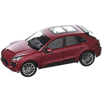 Welly Collection 1:24 2017 Porsche Macan Turbo Diecast Model Car, Red