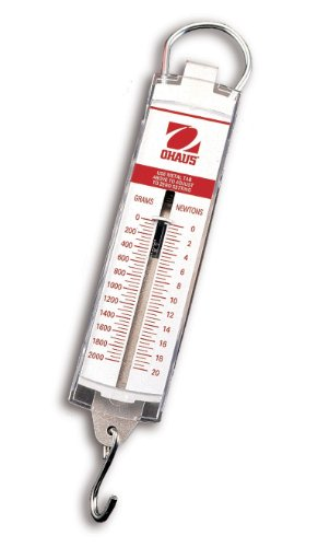 - OHAUS 80000027 8263-M0 Pull Type Spring Scale, 500 g Capacity, 5 g Readability