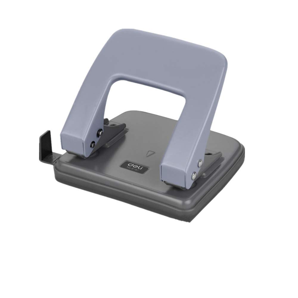 4x4.5-Inch 2 Hole Puncher,Round Hole Puncher Stationery,Squeeze 20 Sheets Capacity 1//4 Holes Skid-Resistant BaseManual Punching for Paper Chipboard,Thin Metal,Craft Paper