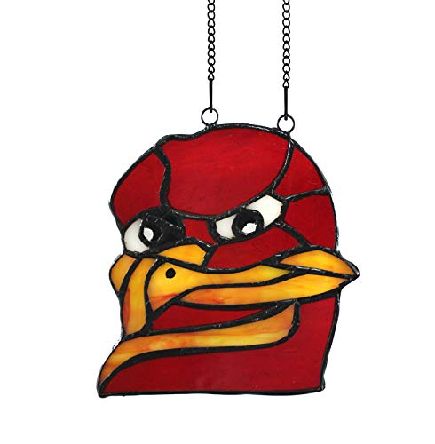 (Alivagar NCAA Virginia Tech Team Mascot Ornament Stained Glass Suncatcher, 4