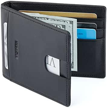Bestkee Leather Rfid Blocking Slim Wallets Mens - Bifold Wallet Card Case Passport Holder