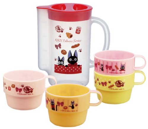 Kikis Delivery Service Design 4pcs Stacking Plastic Cups & a Pitcher for Storage