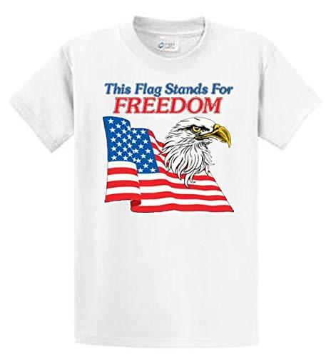 374cb43d Amazon.com: US Flag Stands For Freedom Mens Patriotic Tees Reg - Big ...
