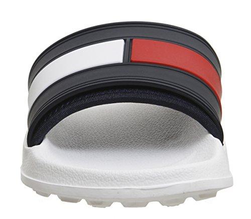 Plage Avec Piscine Drapeau Chaussures Tommy De Pour Hilfiger Hommes Bleu Blanc Et 7tqfA