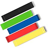 Body Building Yoga Stretch bands Fitness Resistance Belt Fitness Rubber band Elastic Exercise Straps Indoor Sport Gym Pull Up for Fit Body Building Exercise (5PCS)