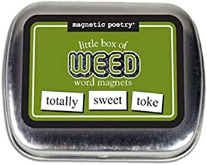 Magnetic Poetry - Little Box of Weed Kit - Words for Refrigerator - Write Poems and Letters on The Fridge - Made in The USA