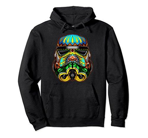 Unisex Star Wars Stormtrooper Ornate Sugar Skull Graphic Hoodie Medium Black