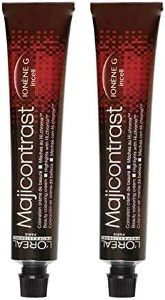 Loreal Majicontrast - Tinte para el cabello (2 x 50 ml), color rojo