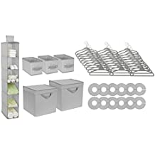 Delta Children Nursery Storage 48 Piece Set, Dove Grey