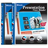Bazic 1/2'' Poly 3-Ring Presentation View Binder [48 Pieces] - Product Description - Clear Pocket With A Business Card Slot Inside The Front Cover. Poly Thickness Of Cover: 0.60 Mm (Sturdy, Yet Flexible). Assorted Cover Colors - Black And White O ...