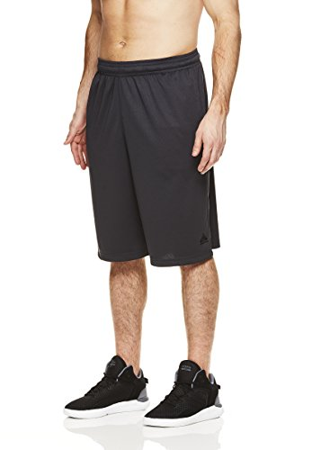 Above the rim Mens Big and Tall Exercise Elastic Waist Athletic Gym Knee Shorts