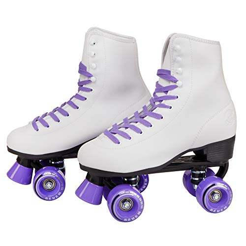 C SEVEN Soft Faux Leather Quad Roller Skates