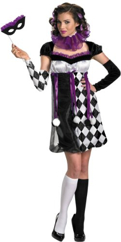 Harlequin Masquerade Costume Adult Costume Size 12-14 (Harlequin Shoes)
