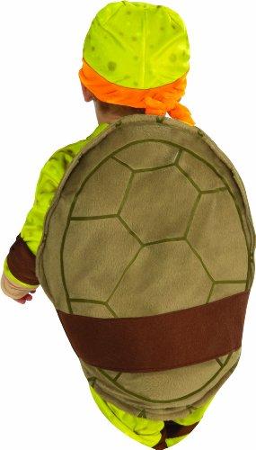 Nickelodeon Ninja Turtles Michelangelo Romper Shell and Headpiece, Green, Toddler(12-24 Months)