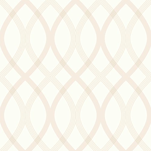 Beacon House 2535-20666 Contour Geometric Lattice Wallpaper, Beige ()