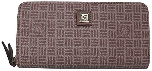 Anne Klein Women's Lion Zip Around Wallet Lilac