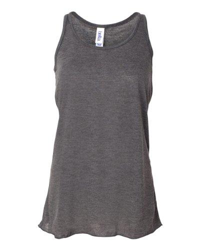 Belle Outfit (Bella + Canvas Womens 3.7 oz. Flowy Racerback Tank (B8800) -DRK GREY H -XS)